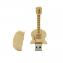 Maple Wooden Guitar Design USB 2.0 Flash Drive Memory Stick Memory Disk 8GB