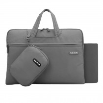 """Laptop Bag Case Sleeve Briefcase with Pocket + Mouse Pad for 13.3"""" Macbook, Gray"""