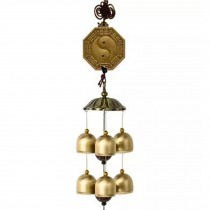 Chinese style Good Luck Wind Chimes Wind Bell 6 Copper Bells, K