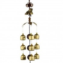 Chinese style Good Luck Wind Chimes Wind Bell 9 Copper Bells, M