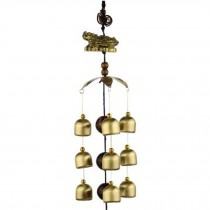 Chinese style Good Luck Wind Chimes Wind Bell 9 Copper Bells, N