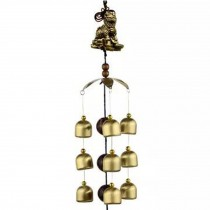 Chinese style Good Luck Wind Chimes Wind Bell 9 Copper Bells, O