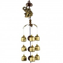 Chinese style Good Luck Wind Chimes Wind Bell 9 Copper Bells, P