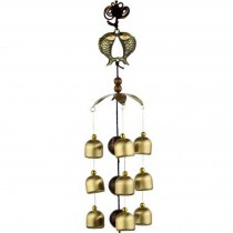 Chinese style Good Luck Wind Chimes Wind Bell 9 Copper Bells, Q