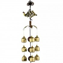 Chinese style Good Luck Wind Chimes Wind Bell 9 Copper Bells, R