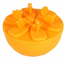Nontoxic Ice Cube Tray Jelly Tray Mold Ice Accessories Creative, Orange