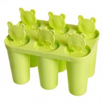 Cute Practical Ice Cube Tray Jelly Tray Mold Summer Accessories, Green