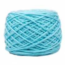 Soft Thick Quick Yarn Premium Yarn Cotton Linter Scarf Yarn, Lake Blue