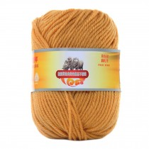 Luxury 100% Soft Lambswool Yarn Thick Quick Yarn Premium Soft Yarn, Yellow