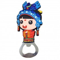Chinese Peking Opera Characters Beer Bottle Opener Fridge Magnets, B