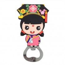 Chinese Peking Opera Characters Beer Bottle Opener Fridge Magnets, C