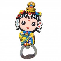 Chinese Peking Opera Characters Beer Bottle Opener Fridge Magnets, G