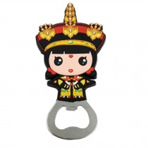 Chinese Peking Opera Characters Beer Bottle Opener Fridge Magnets, H