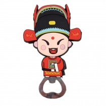 Chinese Peking Opera Characters Beer Bottle Opener Fridge Magnets, J