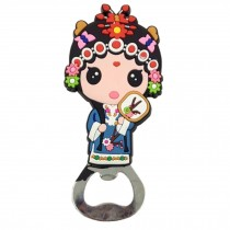 Chinese Peking Opera Characters Beer Bottle Opener Fridge Magnets, K