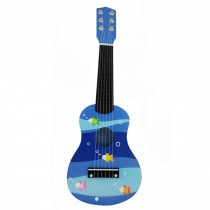 Toy Uke Guitar,Ocean  Blue - Kid's Fancy Dynamic Music Guitar Toy