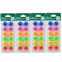 48 PCS Officemate Magnets, Assorted Sizes and Colors,12 per Pack 20mm