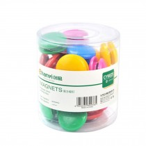 50 PCS Officemate Magnets, Assorted Sizes and Colors, 30mm