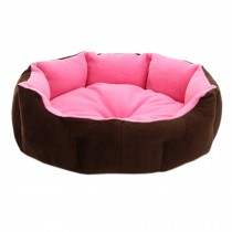 Stylish Pet Bed Pet House Detachable Doghouse Kennel for Small Pets Pink+Brown