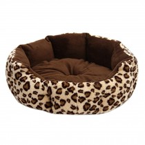 Stylish Pet Bed Pet House Detachable Doghouse Kennel for Small Pets Leopard