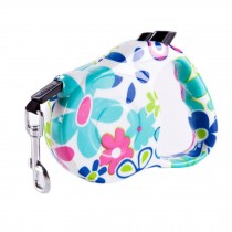 [16-feet Long]Retractable Pet Leash Dog Belt Dog Leash Strap Rope-Colorfulflower