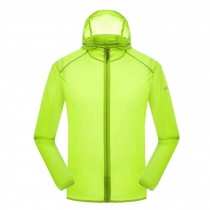 Super Lightweight Quick Dry Jackets UV Protector Windproof Skin Coat,Light Green
