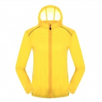 Lightweight UV Protector Quick Dry Windproof Skin Coat Sports Jacket,Yellow