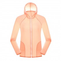 Women's UV Protector Jackets Quick Dry Windproof Outdoor Skin Coat,Light Pink