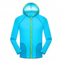 Super Lightweight Jackets UV Protector Quick Dry Windproof Skin Coat,Blue