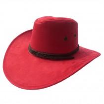 Fashion Sunhat Cowboy Hat Summer Outdoors Activities Cap Sunscreen Red
