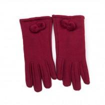Women's Winter/fall Warm  fingertip Touchscreen wool Gloves,claret-red