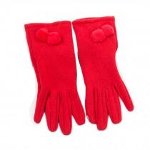 Women's Winter/fall Warm  fingertip Touchscreen wool Gloves,  red