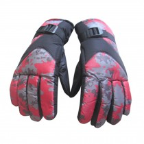 Cold Weather Skidproof&Waterproof Gloves for Men,Red camouflage