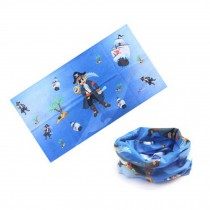 Versatile Sport Headwear/Headband/Hood Mask Neckerchief,Cartoon Blue