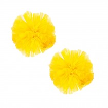 Set of 2 Plastic Ring Pom Matt Cheerleading Poms Yellow
