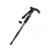 Outdoor Ultralight Hiking Stick Adjustable T-shaped Trekking Poles ,Black