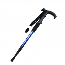 Outdoor Ultralight Hiking Stick Adjustable T-shaped Trekking Poles ,Blue