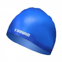 Men & Women Swim Cap Bathing Cap Waterproof Swimming Hat Hair Protector Blue #1