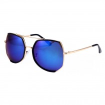 Unique UV Protection Eyewear Flash Mirror Lens Sunglasses, Blue