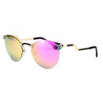 Personality Frameless Sunglasses Eyewears Flash Mirror Lens Sunglasses, A