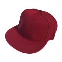 Dark Red Retro Baseball Cap Summer Fitted Caps Flat Cap Women Eye-catcher