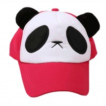 Cute Baseball Cap Fitted Caps Flexfit Hats for Girls - Rose Red