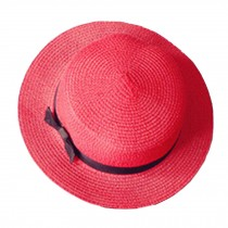 Summer Hats Elegant Fashion Ladies hat red Straw Sun Hat Cap