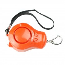 Self-Defence Electronic Personal Security Keychain Alarm with LED Light - Orange