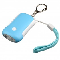 Emergency Self-Defence Personal Security Keychain Alarm with LED Light , Blue