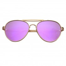 New Korean Style Color Film Reflective Sunglasses,Large Frame Sunglasse  Purple