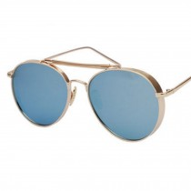 Thicken Large Frame Sunglasses Color Film Reflective For Drinving  Blue