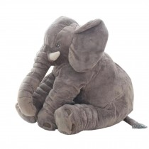 Elephant Baby Pillow Sleep Appease Doll Soft Plush Toy , Gray
