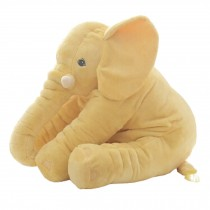 Elephant Baby Pillow Sleep Appease Doll Soft Plush Toy , Yellow