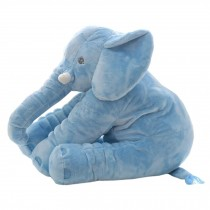 Elephant Baby Pillow Sleep Appease Doll Soft Plush Toy , Blue